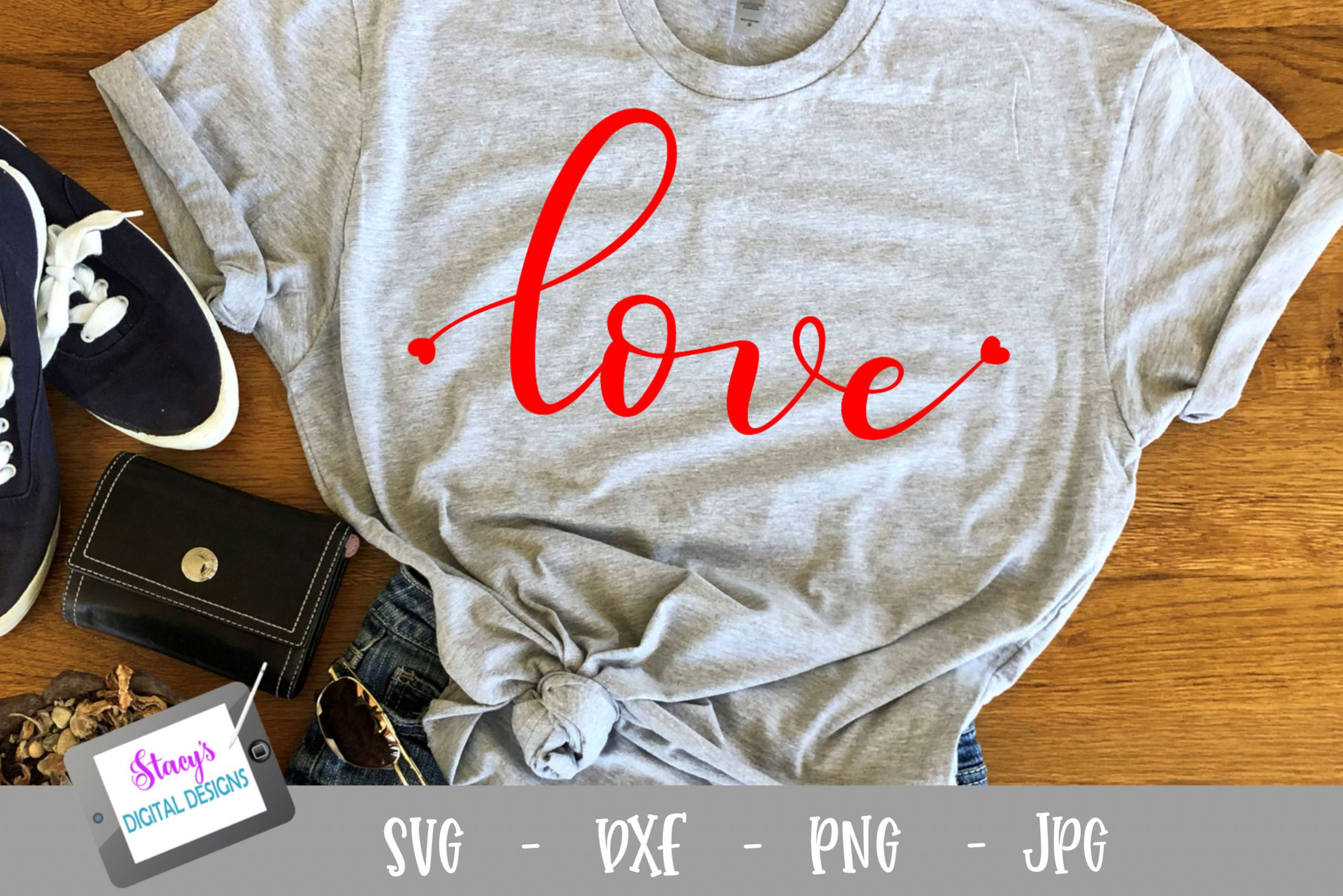 Love SVG with little hearts