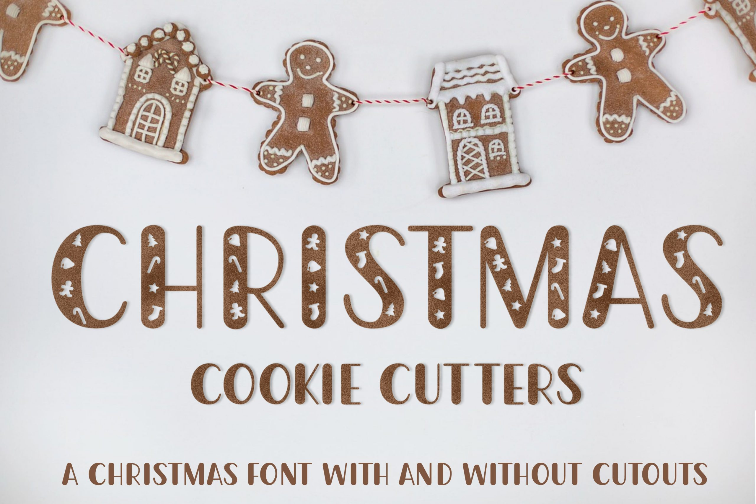 christmas cookie cutter font