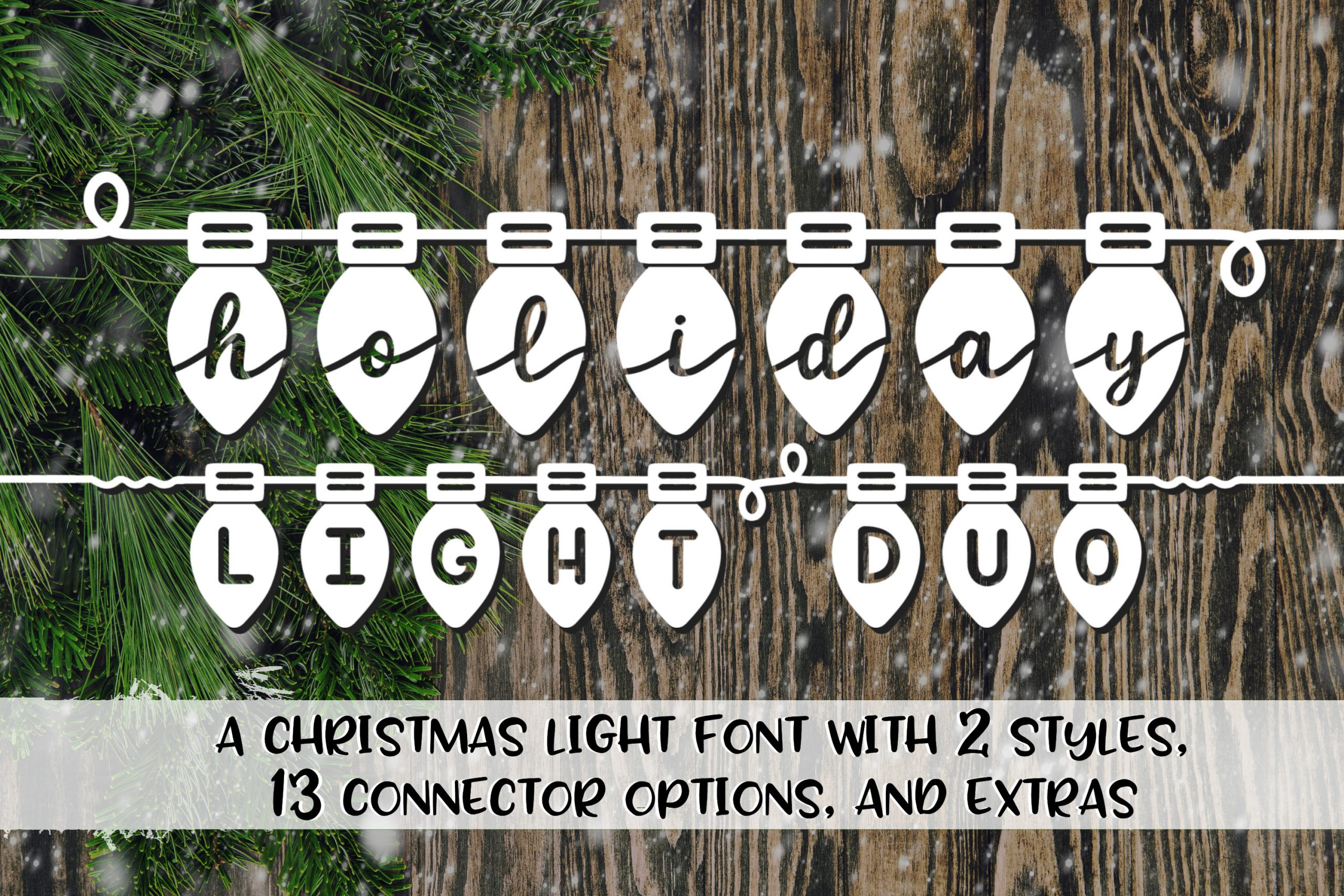 holiday light duo font