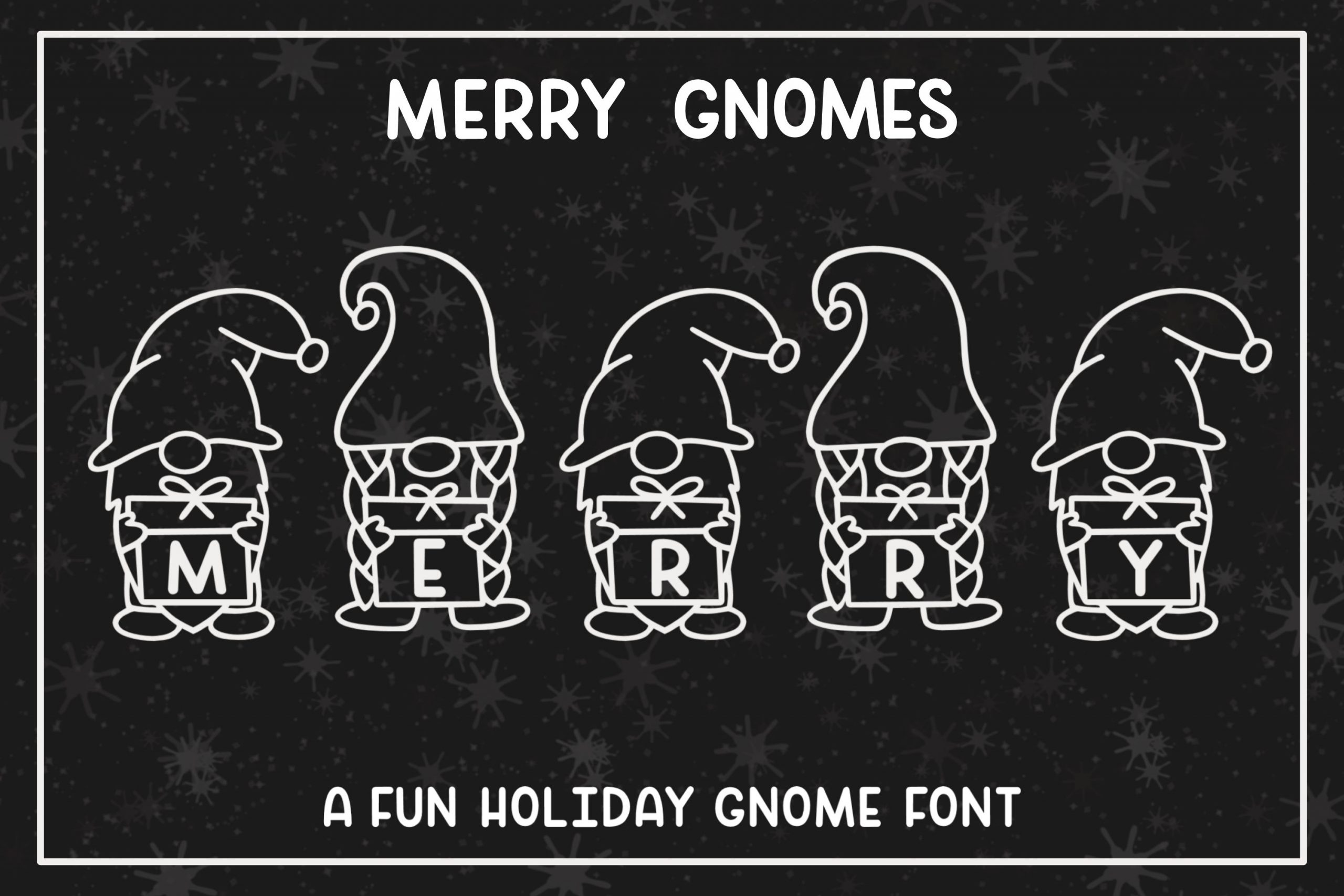 merry gnomes font